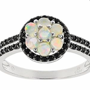 Ethical Opal Sterling Silver Ring 1.2ctw Size 5
